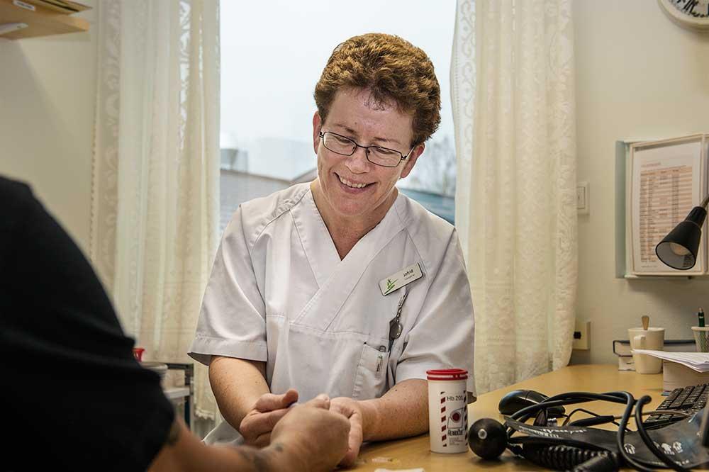 Fagpersonell ved Sørlandets rehabiliteringssenter