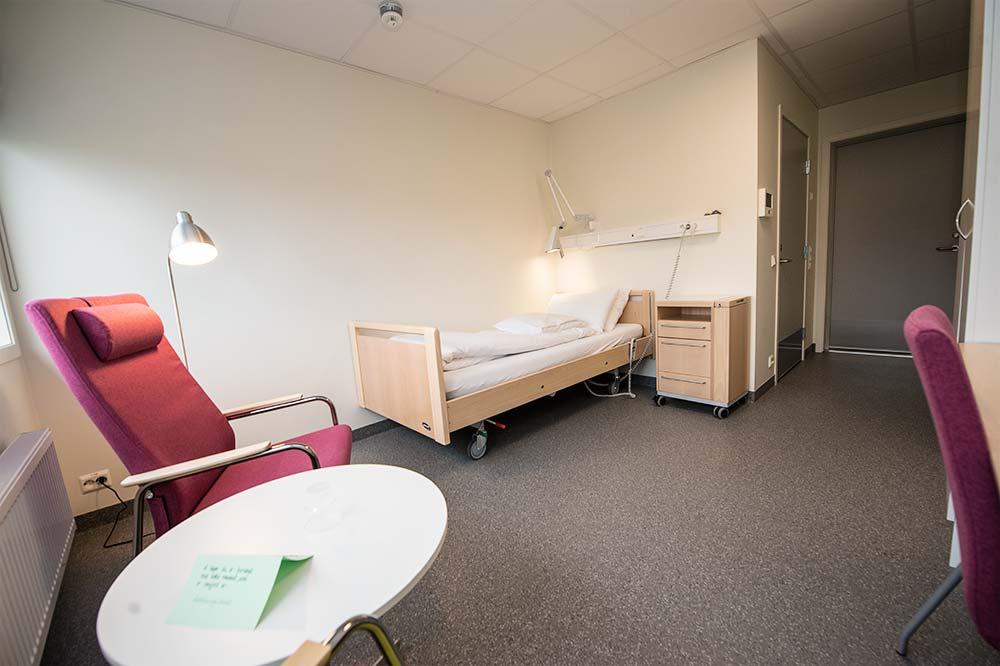 Sørlandets rehabiliteringssenter Eiken / Rommene