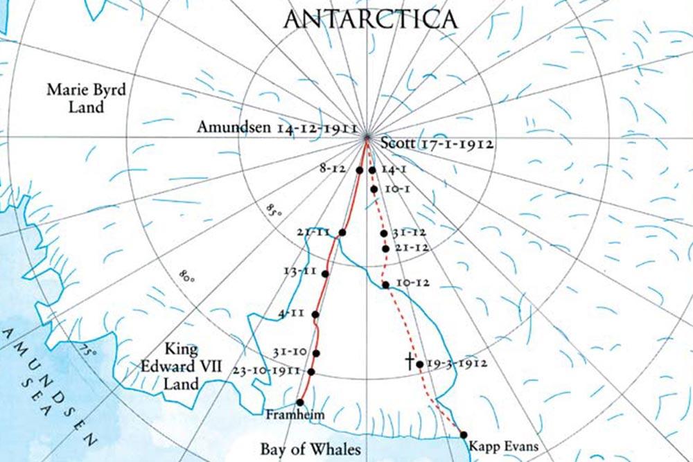 Amundsens rute til Sydpolen - Astrid Furholt til Sydpolen / Sørlandets rehabiliteringssenter
