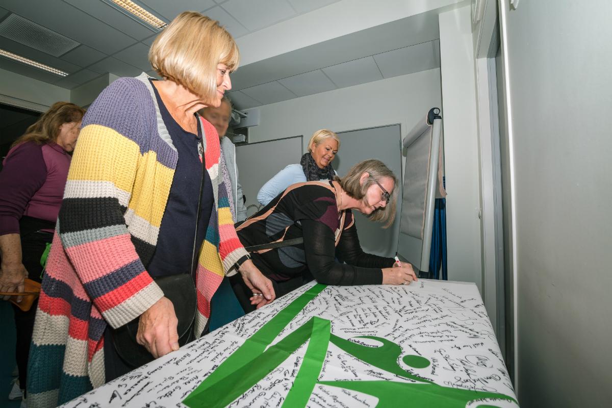 Pasientflagget signereres, Sørlandets rehabiliteringssenter