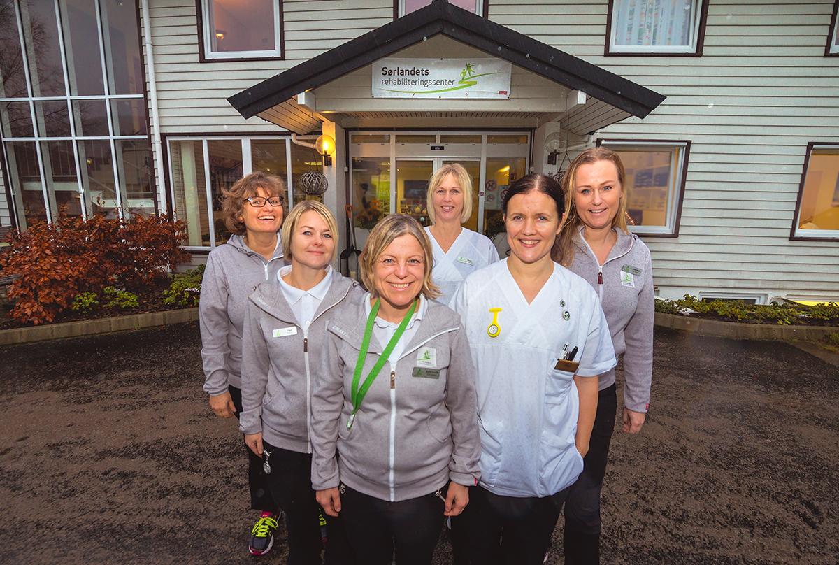 Teamet bak kreftrehabilitering på Sørlandets rehabiliteringssenter
