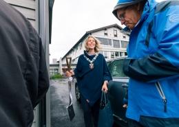 Ordfører Margrethe Handeland med spaden