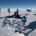 astrid furholt med pasientflagget på sydpolen